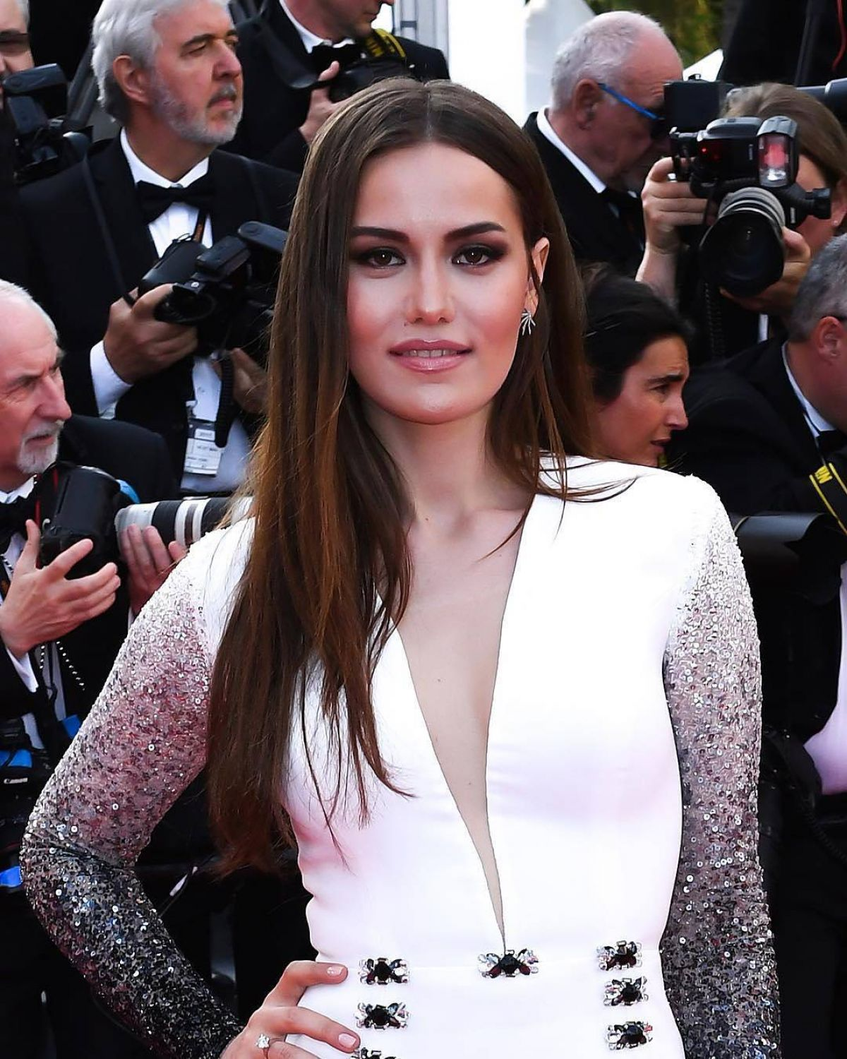 FAHRIYE EVCEN at The Killing of a Sacred Deer Premiere at 70th Annual Cannes Film Festival 05/22/2017