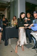 FRANCESCA EASTWOOD Arrives at De Re Gallery in West Hollywood 05/05/2017