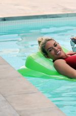FRANKIE ESSEX in Swimsuit at Pool of Her Hotel in Portugal 05/28/2017