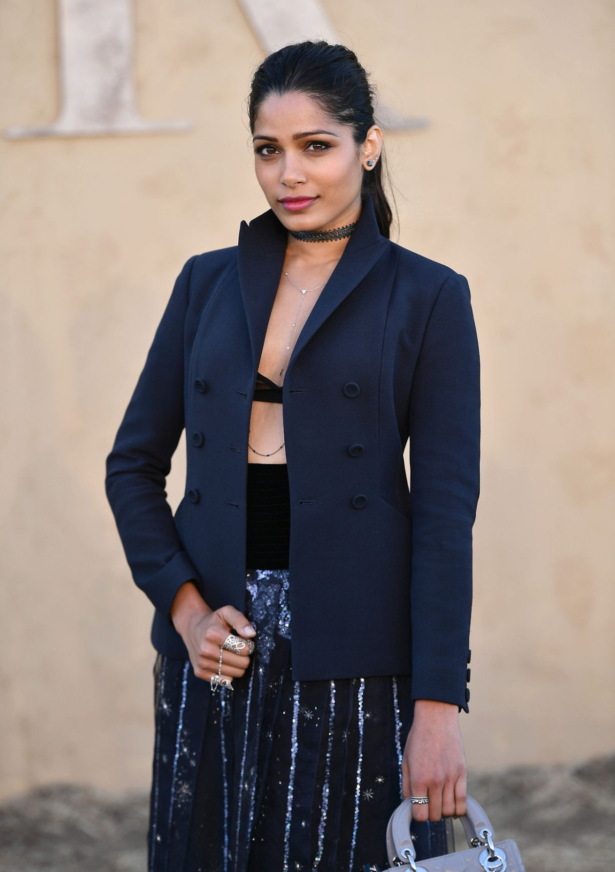 FREIDA PINTO at Dior Cruise Collection 2018 Show in Los Angeles 05/11/2017