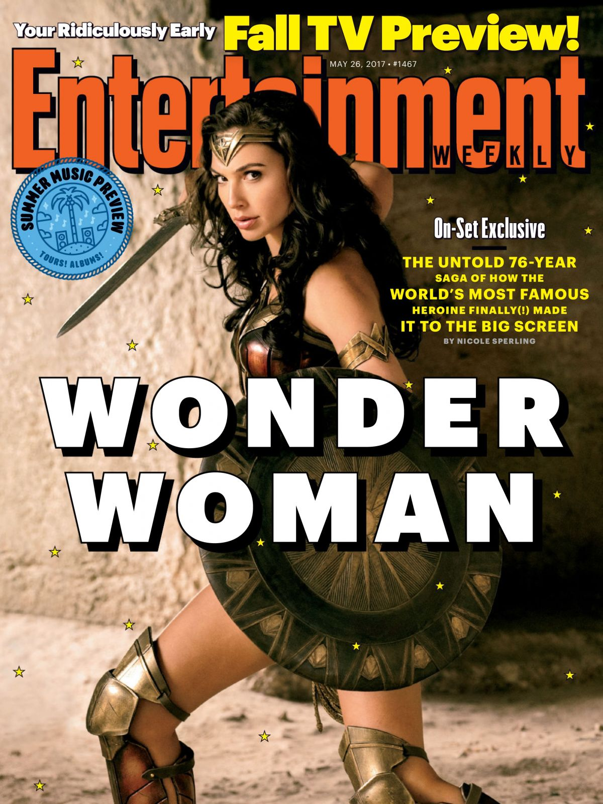 GAL GADOT in Entertainment Weekly Magazine, May  2017