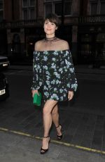 GEMMA ARTERTON Out for Dinner at Scott