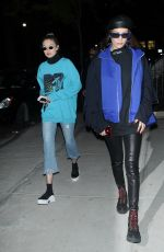 GIGI and BELLA HADID Night Out in New York 05/03/2017