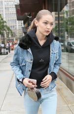 GIGI and YOLANDA HADID Out and About in New York 05/25/2017