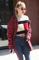 GIGI HADID in a Tommy Hilfiger Sweater Out in New York 05/12/2017
