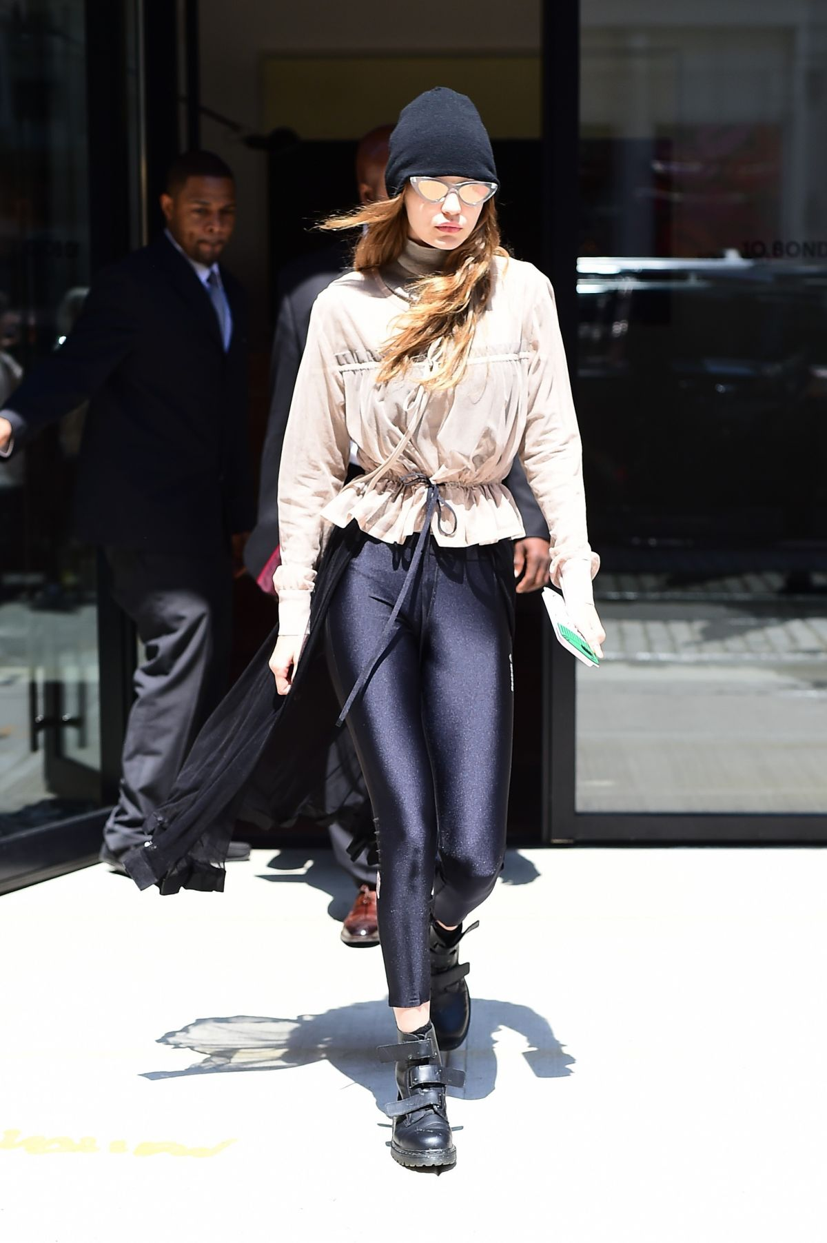 GIGI HADID Leaves Her Apartment in New York 05/01/2017