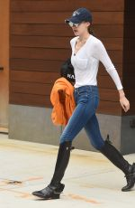 GIGI HADID Leaves Her Apartment in New York 05/30/2017