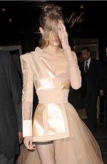 GIGI HADID on Her Way to MET Gala in New York 05/01/2017