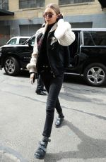 GIGI HADID Out in New York 05/11/2017