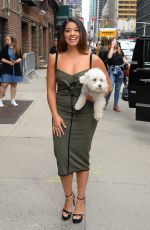 GINA RODRIGUEZ Arrives at Late Show with Stephen Colbert in New York 05/16/2017