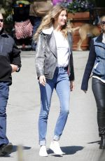 GISLE BUNDCHEN on the Set of an Advert in Central Park in New York 05/04/2017
