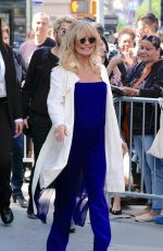 GOLDIE HAWN Arrives at AOL Studios in New York 05/02/2017