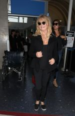 GOLDIE HAWN at LAX Airport in Los Angeles 05/03/2017