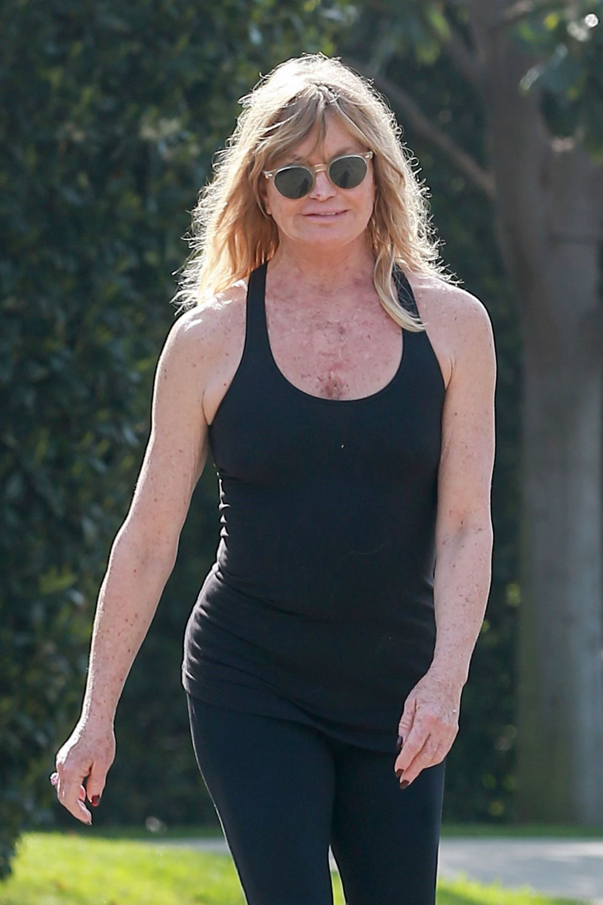 GOLDIE HAWN Out Jogging in Brentwood 05/14/2017 - HawtCelebs