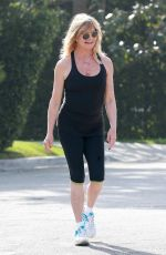 GOLDIE HAWN Out Jogging in Brentwood 05/14/2017