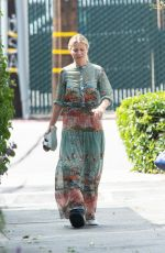 GWYNETH PALTROW with a Soft Cast on Her Right Leg Out in Los Angeles 05/26/2017