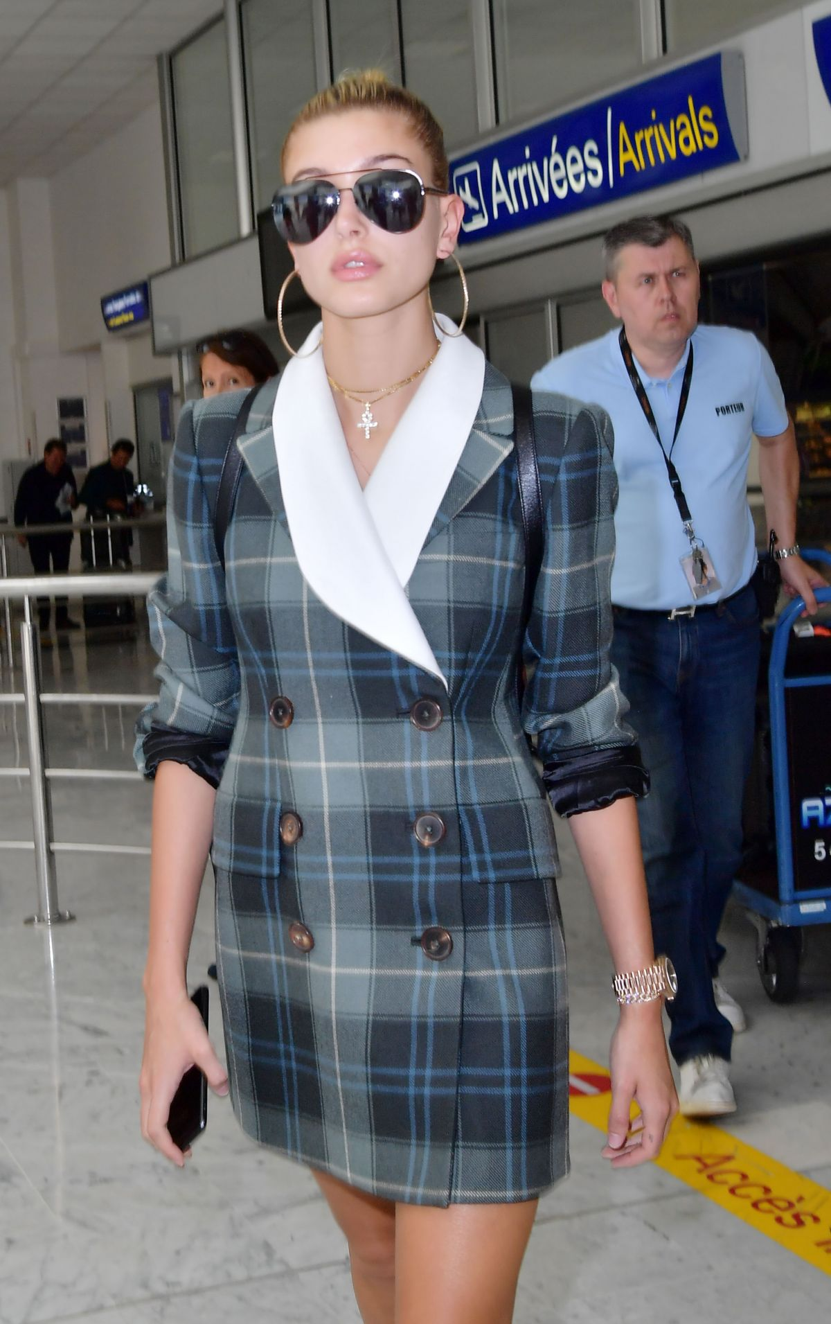 HAILEY BALDWIN Arrives at Airport in Nice 05/17/2017