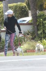 HEIDI MONTAG Walks Her Dog Out in Brentwood 05/29/2017