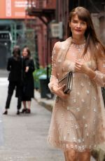 HELENA CHRISTENSEN Arrives at Valentino Show in New York 05/23/2017