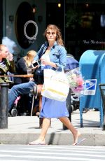 HELENA CHRISTENSEN Out and About in New York 05/15/2017