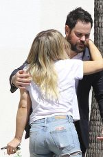 HILARY DUFF and Mike Comrie Out in Studio City 05/03/2017