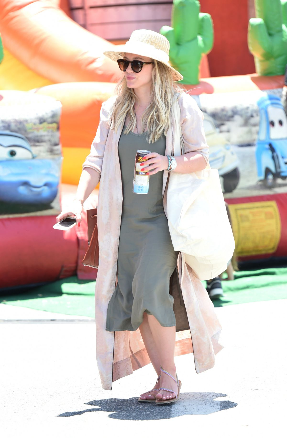 HILARY DUFF Shopping at Farmers Market in Studio City 05/28/2017