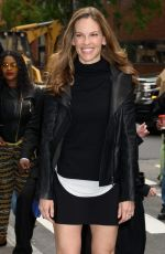 HILARY SWANK Arrives at AOL Studios in New York 05/31/2017