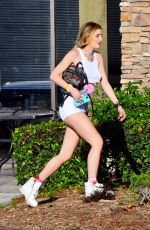 BELA THORNE Out at Magic Mountain in Valencia 05/05/2017