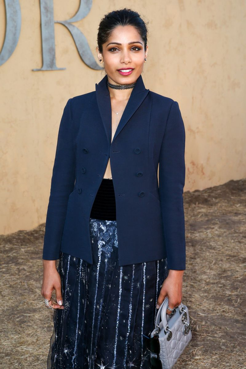 FREIDA PINTO at Dior Cruise Collection 2018 Show in Los ...