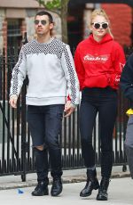 SOPHIE TURNER and Joe Jonas Leaves a Restaurant in New York 05/08/2017