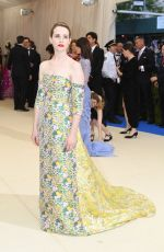 CLAIRE FOY at 2017 MET Gala in New York 05/01/2017