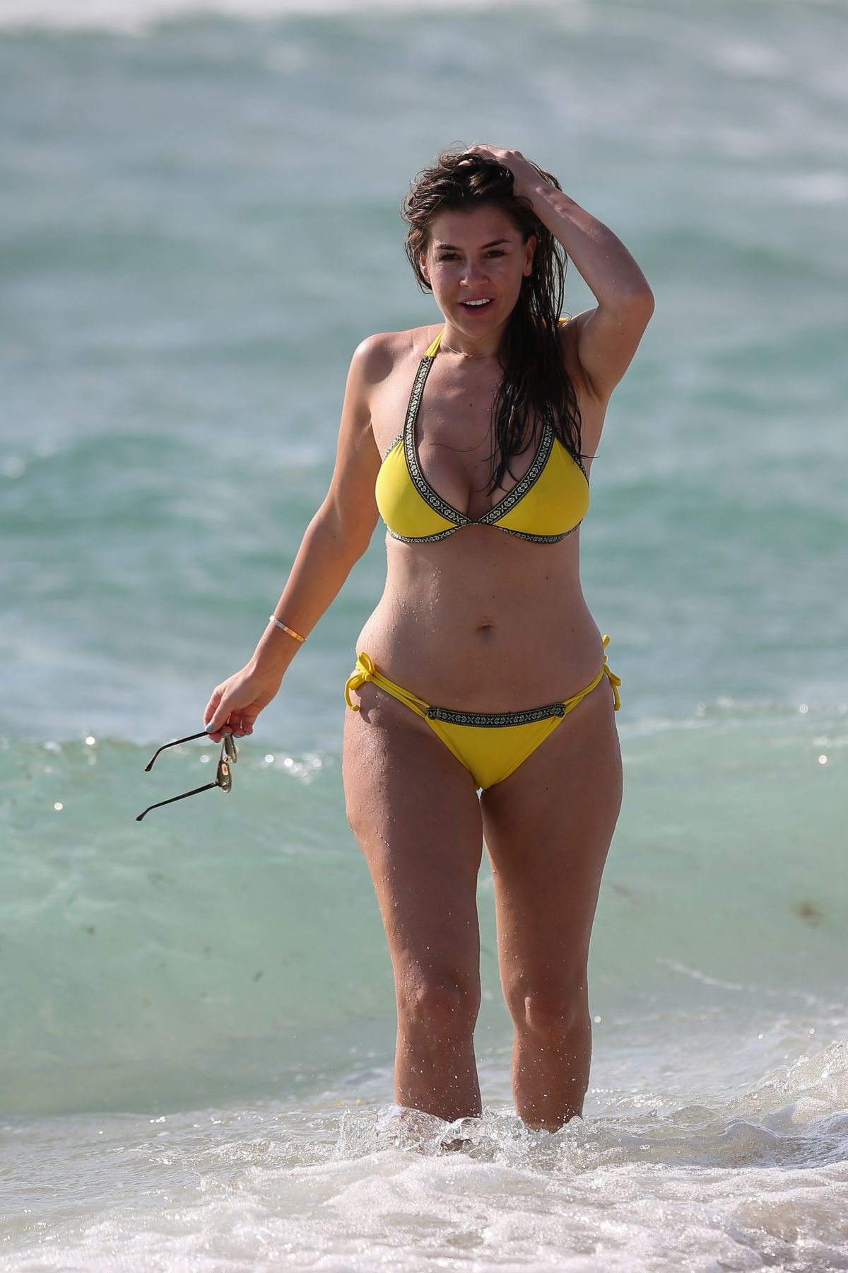 IMOGEN THOMAS in Bikini at a Beach in Aruba 05/02/2017
