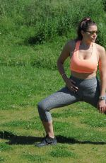 IMOGEN THOMAS Working Put at a Park in London 05/30/2017