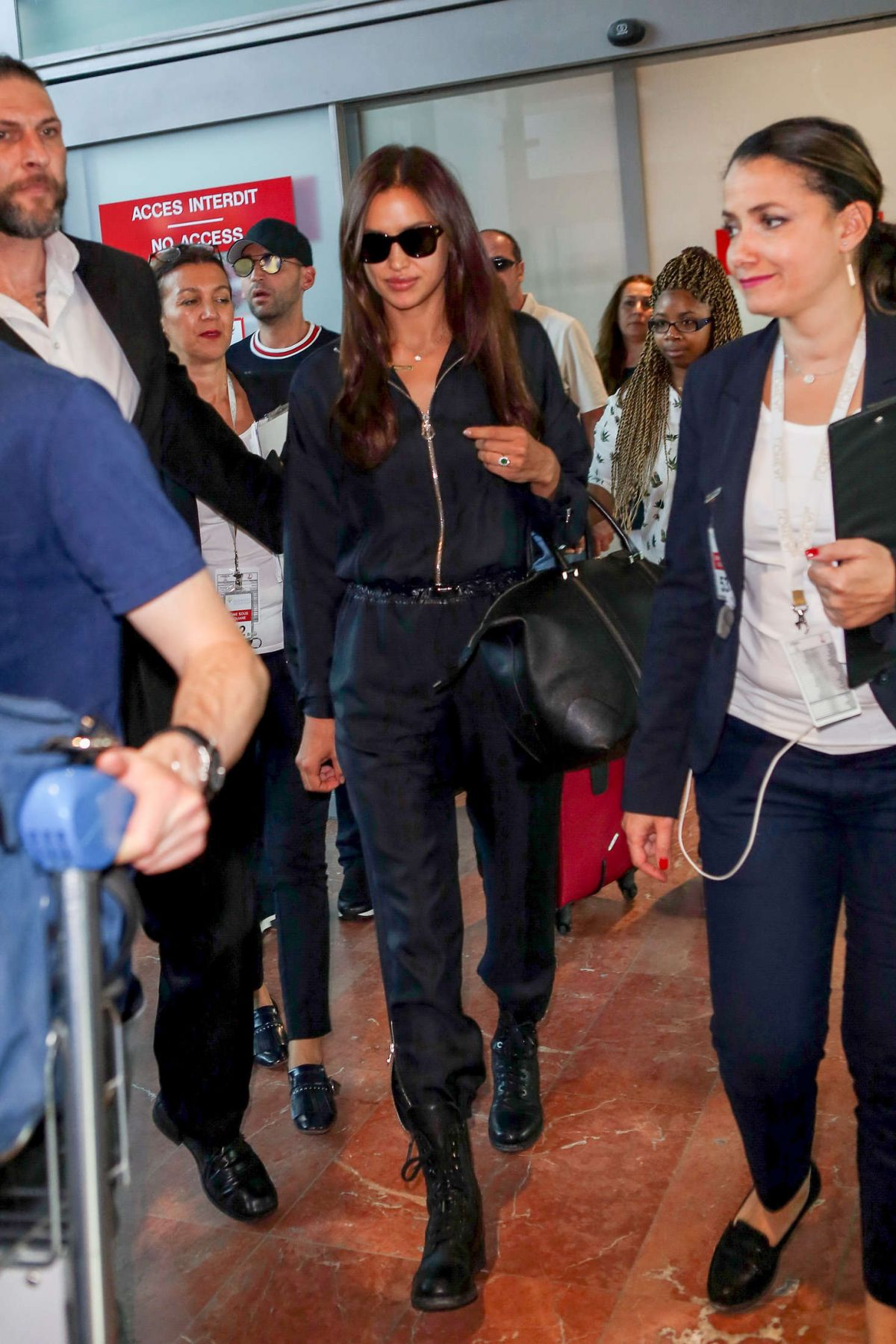 IRINA SHAYK Arrives at Nice Airport in Cannes 05/23/2017