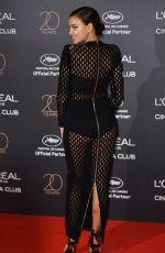 IRINA SHAYK at L'Oreal 20th Anniversary Party at Cannes Film Festival 05/24/2017