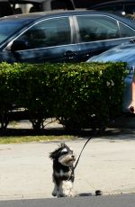 JAMIE CHUNG Walks Her Dog Out in Los Angeles 05/04/2017