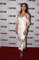 JASMINE THOMPSON at 34th Annual Ascap Pop Music Awards in Los Angeles 05/18/2017