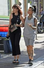 JEMMA LUCY Out at Red Light District in Amsterdam 05/30/2017