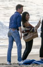JENNA DEWAN on the Set of a Photoshoot on the Beach in Malibu 05/09/2017