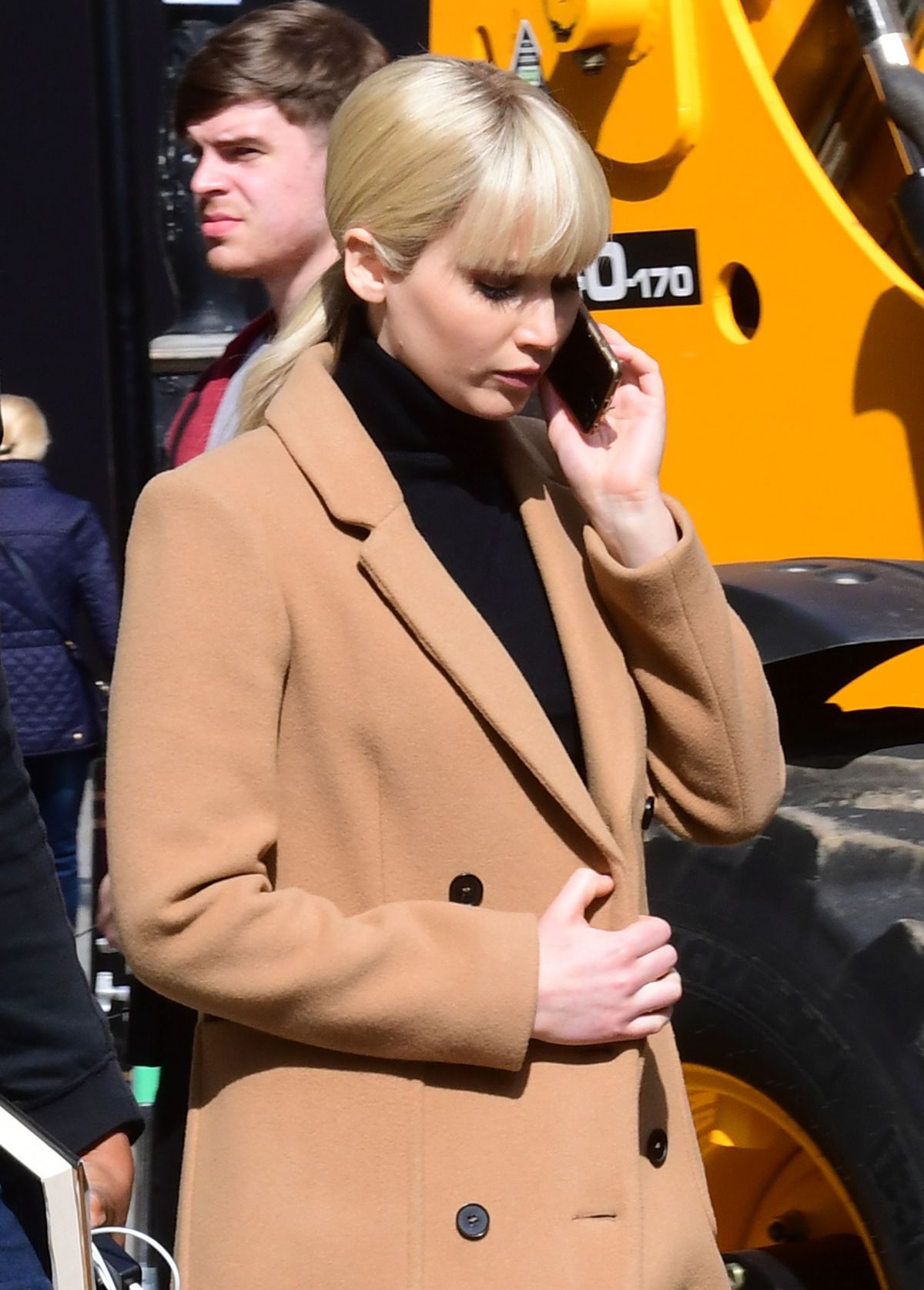 JENNIFER LAWRENCE on the Set of Red Sparrow in London 05/07/2017