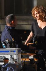 JENNIFER LOPEZ at Shades of Blue Set in New York 05/21/2017
