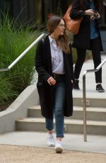 JESSICA ALBA Leaves an Office Building in Los Angeles 05/12/2017