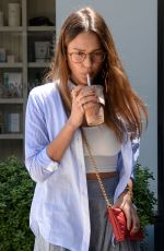 JESSICA ALBA Out and About in Beverly Hills 04/30/2017