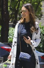 JESSICA ALBA Out in Westwood 05/20/2017