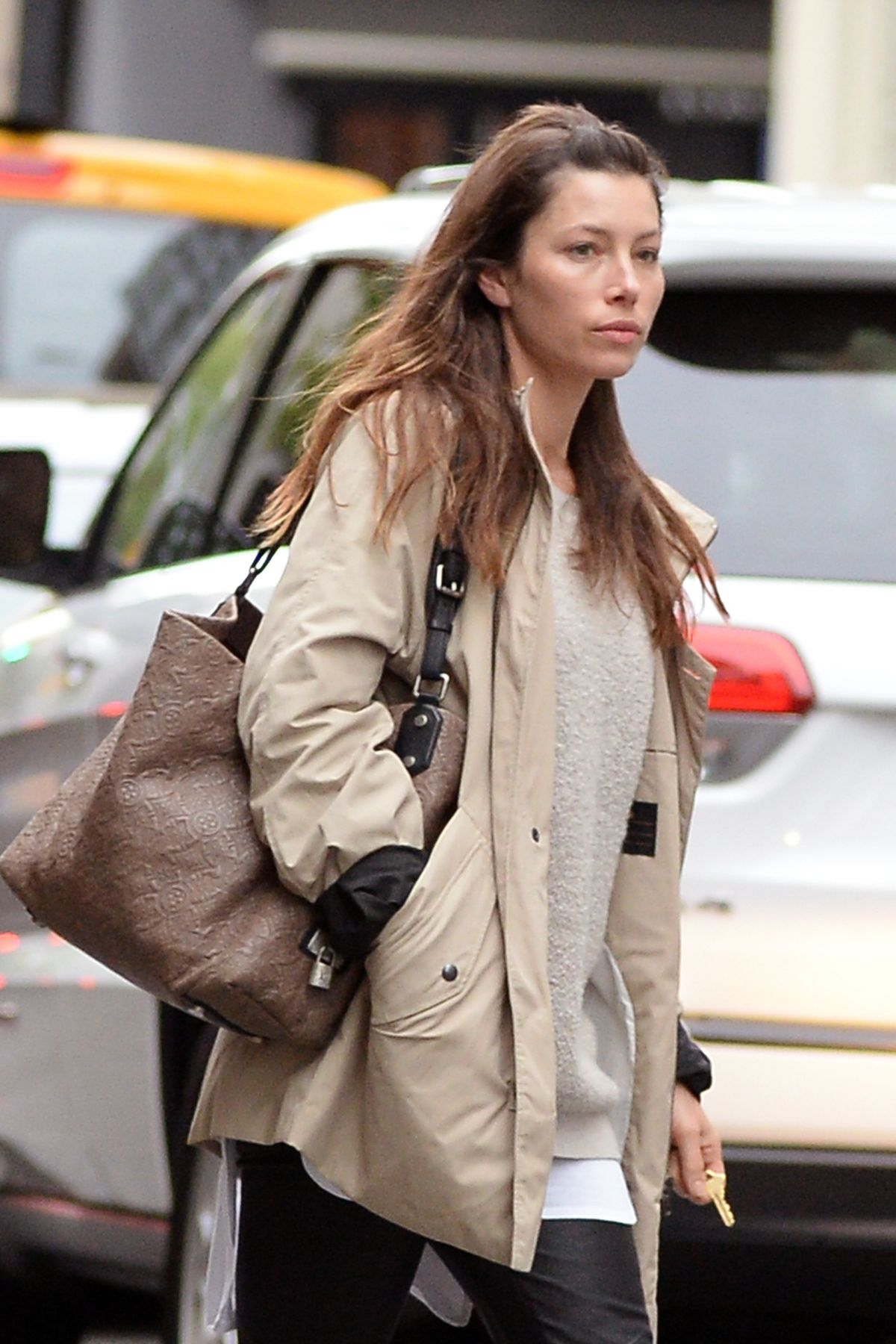 JESSICA BIEL Out in New York 05/12/2017