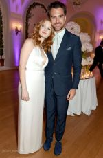 JESSICA CHASTAIN and Gian Luca Passi de Preposulo at Variety and HBO Dinner at Cannes Film Festival 05/20/2017