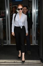 JESSICA CHASTAIN Arrives at BBC Radio 2 Studios in London 05/05/2017