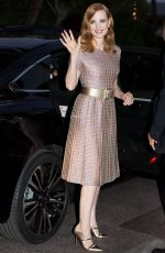 JESSICA CHASTAIN Arrives at Tetou Restaurant in Cannes 05/24/2017