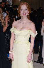 JESSICA CHASTAIN at 2017 MET Gala in New York 05/01/2017