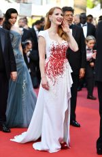 JESSICA CHASTAIN at 70th Annual Cannes Film Festival Closing Ceremony 05/28/2017